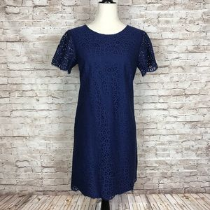 Ann Taylor lace short sleeve dress
